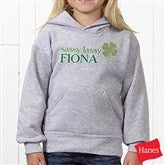 Born Lucky Personalized Youth Hooded Sweatshirt - 14055-YHS