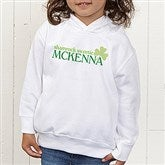 Born Lucky Personalized Toddler Hooded Sweatshirt - 14055-CTHS