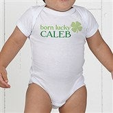 Born Lucky Personalized Baby Bodysuit - 14055-CBB