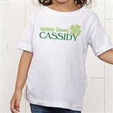 Born Lucky Personalized Toddler T-Shirt - 14055-TT