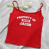 Property Of Personalized Ladies Red Camisole - 14070C