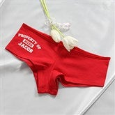 Property Of Personalized Ladies Red Shorties - 14070S