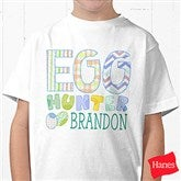 Egg Hunter Personalized Hanes® Youth T-Shirt - 14079-YCT