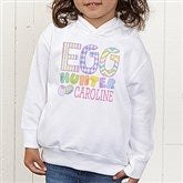 Egg Hunter Personalized Toddler Hooded Sweatshirt - 14079-CTHS