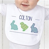Hip Hop Easter Personalized Infant Bib - 14086-B