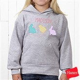 Hip Hop Easter Personalized Youth Hooded Sweatshirt - 14086-YHS