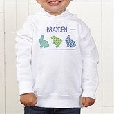 Hip Hop Easter Personalized Toddler Hooded Sweatshirt - 14086-CTHS