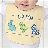 Hip Hop Easter Personalized Baby Bib - 14086-B