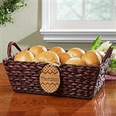 Easter Basket With Personalized Wood Egg - Name - 14089-N