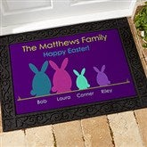 Easter Bunny Family Personalized Doormat- 18x27 - 14090-S