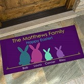 Easter Bunny Family Oversized Personalized Doormat- 24x48 - 14090-O
