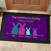 Easter Bunny Family Personalized Doormat- 20x35 - 14090-M