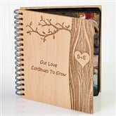 Carved In Love Personalized Photo Album - 14096