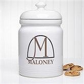 Monogram Elegance Personalized Cookie Jar
