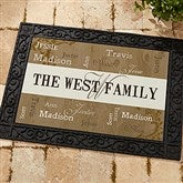 Our Loving Family Personalized Recycled Rubber Back Doormat - 14118-S