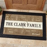 Our Loving Family Personalized Doormat- 20x35 - 14118-M