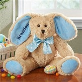 Some-Bunny Special Embroidered Plush Bunny- Blue - 14129-B