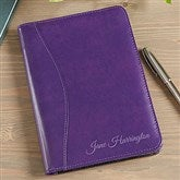 Plum Leather Personalized Ladies Jr. Padfolio