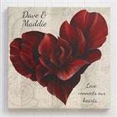 Blooming Heart Personalized Canvas Print-24