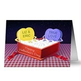 Hot Tub Candy Heart Personalized Greeting Card - 14138