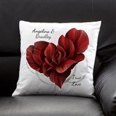 Blooming Heart Personalized Keepsake Pillow