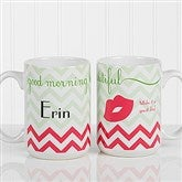 Good Morning, Beautiful Personalized Coffee Mug 15 oz.- White - 14171-L
