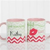Good Morning, Beautiful Personalized Coffee Mug 11 oz.- Pink - 14171-P