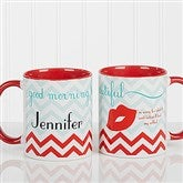 Good Morning, Beautiful Personalized Coffee Mug 11 oz.- Red - 14171-R