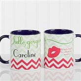 Good Morning, Beautiful Personalized Coffee Mug 11 oz.- Blue - 14171-BL