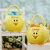 Easter Chick Embroidered Basket