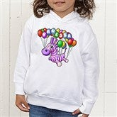 Floating Zoo Personalized Toddler Hooded Sweatshirt - 14182-CTHS