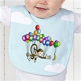 Floating Zoo Personalized Baby Bib - 14182-B