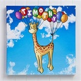 Floating Zoo Personalized Canvas Print- 12