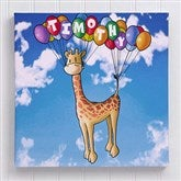 Floating Zoo Personalized Canvas Print- 16