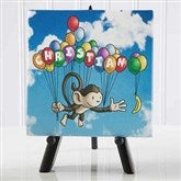 Floating Zoo Personalized Canvas Print -5½ x 5½ - 14184-XS