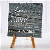 Love Is Patient Personalized Canvas Print-5½ x 5½ - 14186
