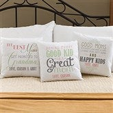 Loving Words To Her Personalized Throw Pillow - 14223