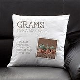 Definition of Grandma Personalized Photo Pillow - 14228