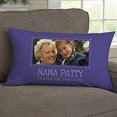 Definition of Grandma Personalized Lumbar Photo Pillow - 14228-LB