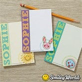 SmileyWorld® Personalized Mini Notepad Set of 3 - 14230