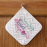 Kisses & Cupcakes Personalized Potholder - 14232-P