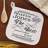 She Makes The Best...Personalized Potholder - 14235-P