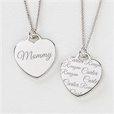 Loved By Mom Engraved Heart Necklace - 14243