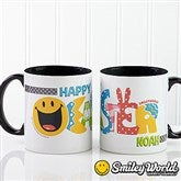 SmileyWorld® Easter Personalized Black Handle Coffee Mug- 11 oz. - 14247-B