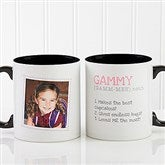 Definition Of Grandma Photo Coffee Mug 11oz.- Black - 14254-B