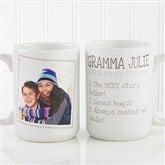 Definition Of Grandma Photo Coffee Mug 15 oz.- White - 14254-L