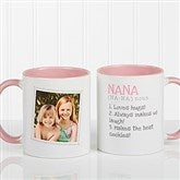 Definition Of Grandma Photo Coffee Mug 11oz.- Pink - 14254-P