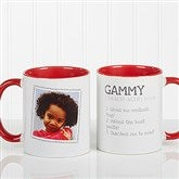 Definition Of Grandma Photo Coffee Mug 11oz.- Red - 14254-R