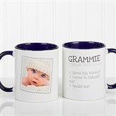 Definition Of Grandma Photo Coffee Mug 11oz.- Blue - 14254-BL