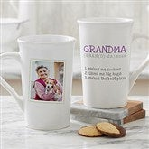Definition Of Grandma Photo Latte Mug 16 oz.- White - 14254-U